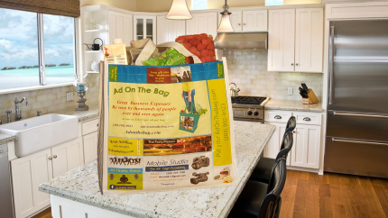 Grocery bag advertising